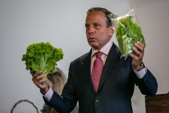 Governador de São Paulo zera ICMS de frutas, verduras e hortaliças