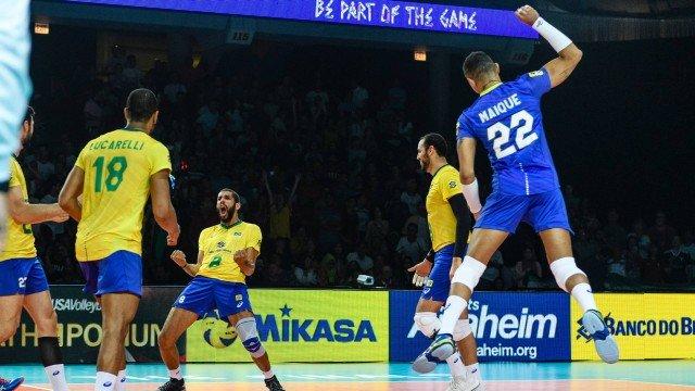 Brasil vence Irã e avança às semifinais da Liga das Nações de Vôlei