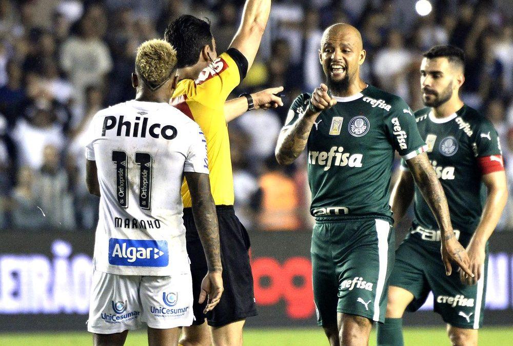 STJD analisa gestos de Felipe Melo, do Palmeiras, à torcida do Santos